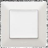 Еднополюсен ключ бял с рамка Valena Life