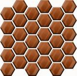 Мозайка Copper Glass Hexagon 25x25.8