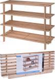 Етажерка за обувки дървена 4 нива