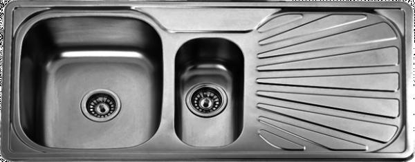 Двойна мивка алп.100,2*49,0*18