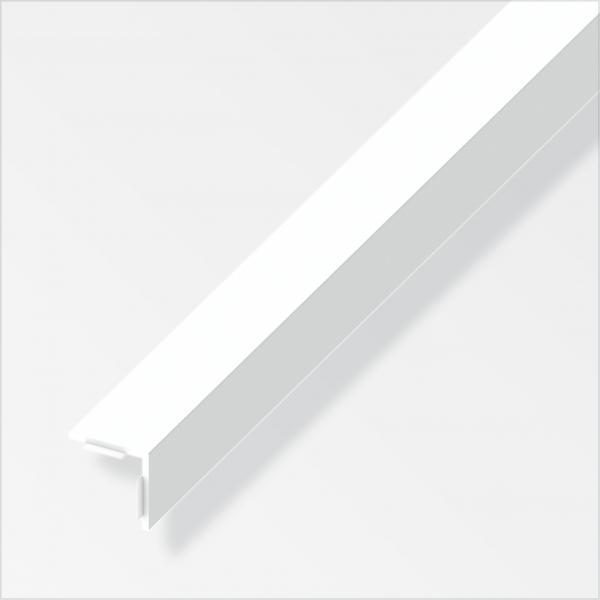 Лепящ се ъглов профил 20х20 PVC бял 2.5м