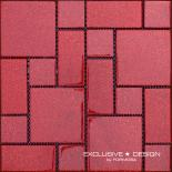 Стъклена мозайка червен