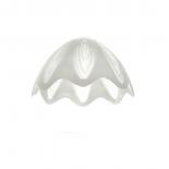 Пенделно стъкло Е27 бяло/прозрачно Ф250