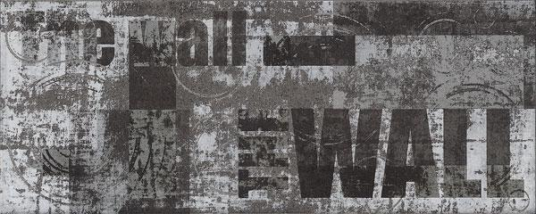 Декоративна фаянсова плочка Amsterdam The Wall Graphite 20x50 см