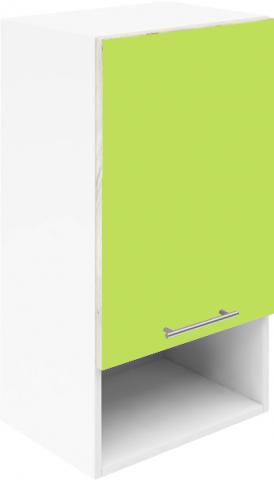 Крафт G3 горен с една врата и ниша 50см, зелен гланц