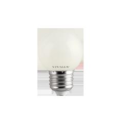 LED крушка G45 1W E27 топло бяла  60lm