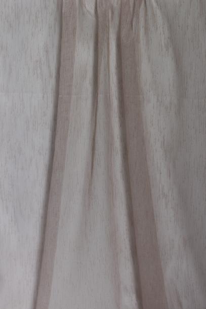 Тънко перде ленена структура - розово