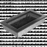 Решетка 17/30 см сребърно/черно