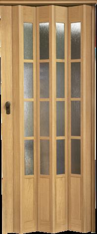 Сгъваема врата PRESIDENT GLAS 205х86 см светъл бук