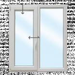 PVC Прозорец 1400/1500 KMG- една фиксирана, една с двуосово отваряне ляв