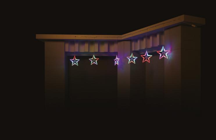 Светещ гирлянд 'Падащи звезди'