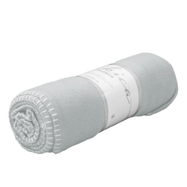 Одеяло Полар 130х160 см Сребристо