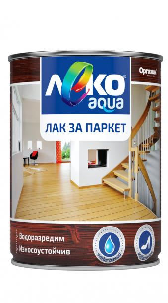 Паркетен лак Лeко Aqua 2.5л, безцветен гланц