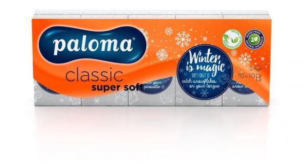 Носни Кърпички Палома Classic WINTER EDITION, 3 пл