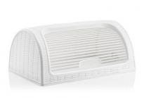 Кутия за хляб бяла PVC ратан