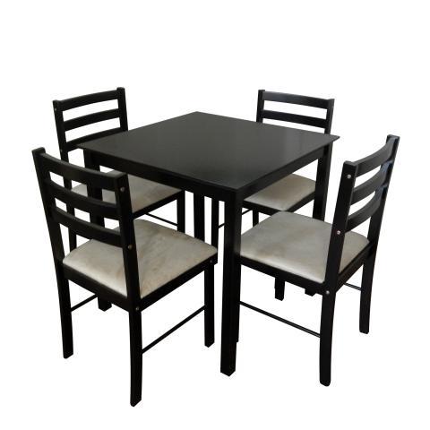 Комплект маса с 4 стола дърво
