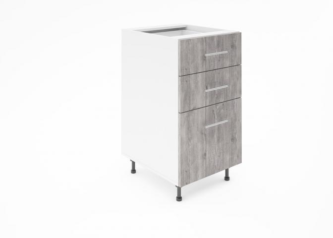 Крафт D3 долен шкаф с три чекмеджета 45см, дарк арамо