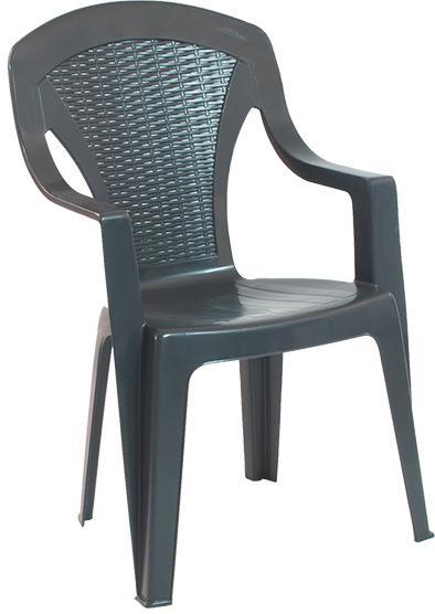 Стол ARONA пластмасов с подлакътници и висока облегалка