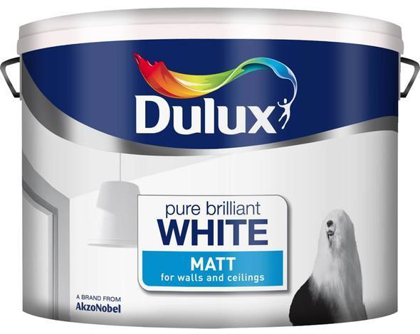 Интериорна боя  DuluxMat 10л, брилянтно бяла