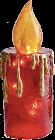 Свещ от фибро-стъкло, червена 2.3 м