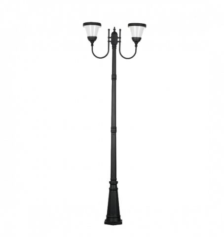 LED соларен градински осветител PIERRE H-2.6м 2x6W 4000K IP65