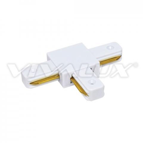 Свързващ елемент за релсови системи LINK-T, бял