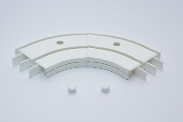 Вътрешен ъгъл за двуканална PVC релса - 1 бр.
