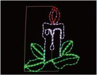 Свещ,  L79/H96см, 204 червени, бели и зелени LED