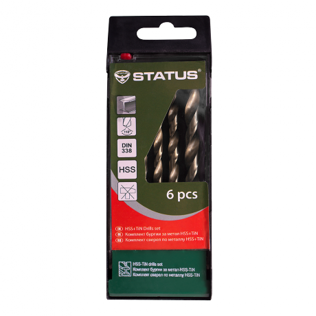 Комплект свредла за метал HSS+TIN Status 6бр.