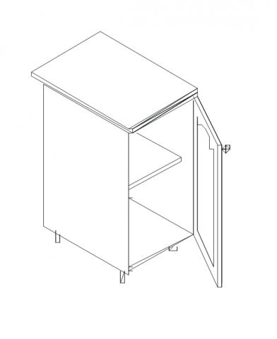 Талпи долен шкаф с врата 60х60х89