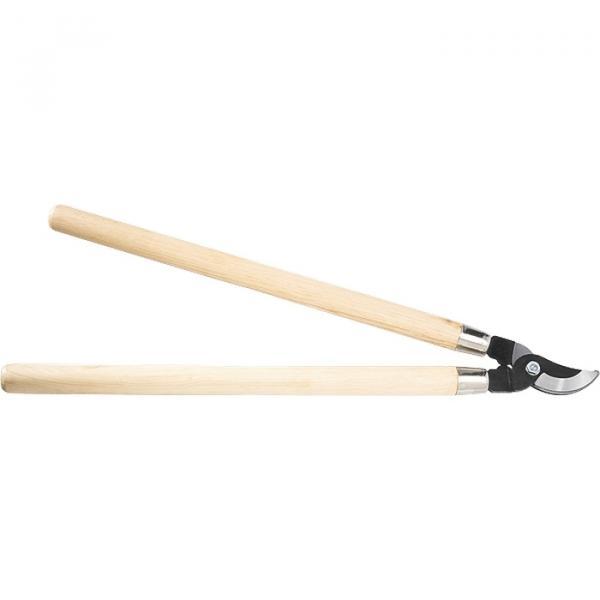 Ножица за клони с дървени дръжки и извити остриета 710мм