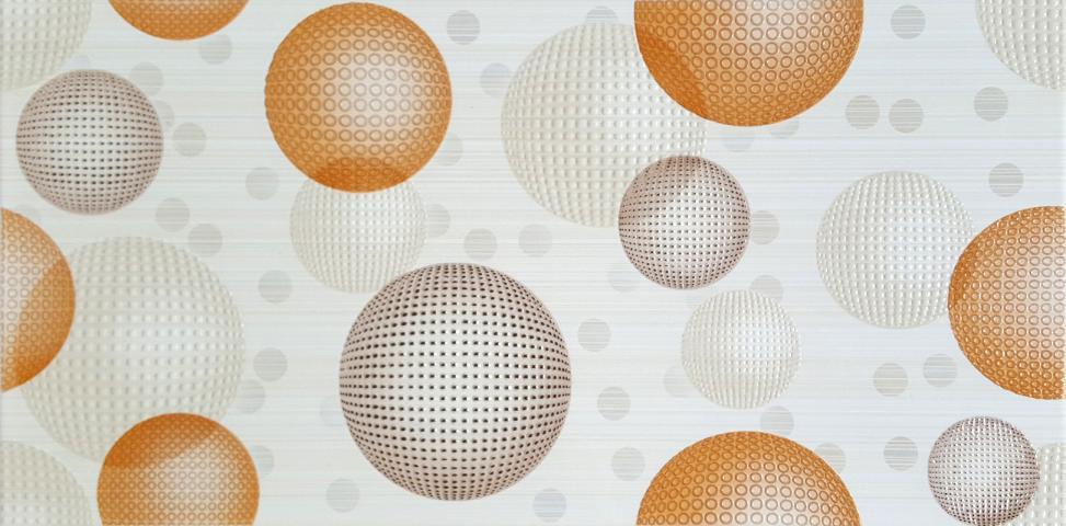Декоративна плочка за баня Dreams Orange 25x50 см