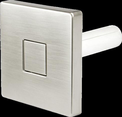 Закачалка-бутон, квадратна, никел-мат