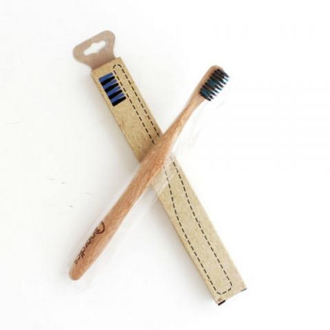 Бамбукова четка за зъби с въглен/цветни влакна 3