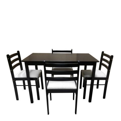 Комплект маса с 4 стола венге