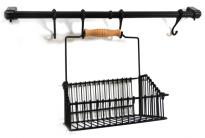 Органайзер за кухня с окачване черен