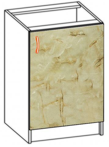 Долен шкаф с една врата Алина 50см