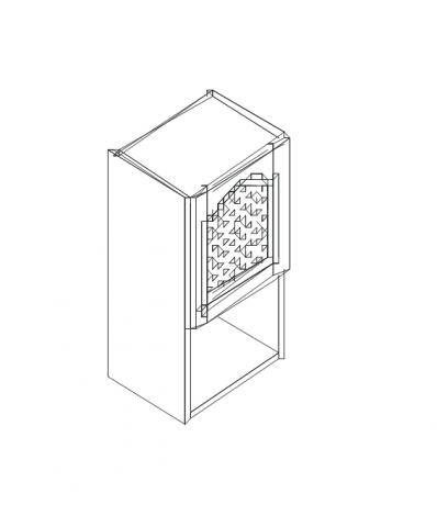Талпи горен шкаф с решетъчна врата и ниша 20 см 40х29х70.5