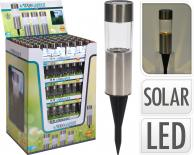 Соларна лампа DIA, инокс, 45 мм
