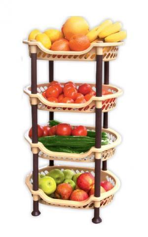 Стелаж за плодове овален - 4 нива
