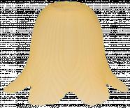 Пенделно стъкло Е27 бяло/жълт