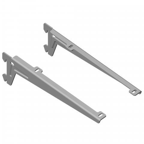 Конзола к-т лява/ дясна сребриста 180 мм