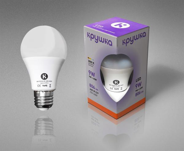 LED крушка 9W E27 800lm топла