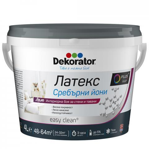 Интериорна боя Dekorator Сребърни йони 4л