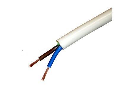 Кабел H05VV-F 2x1.5mm2 бял