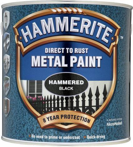 Боя за метал Hammerite 2.5л, черен хамър ефект