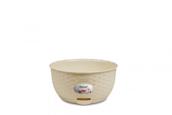 Кашпа Натурал крема 30 см