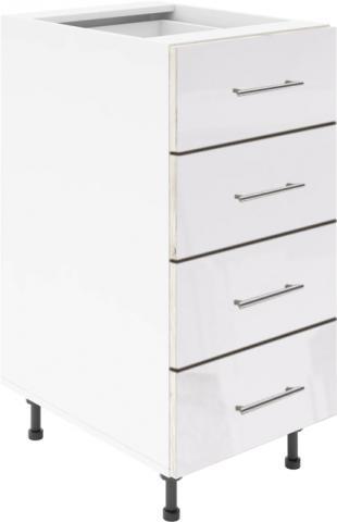 Крафт D4 долен шкаф с четири чекмеджета 50см, бял гланц