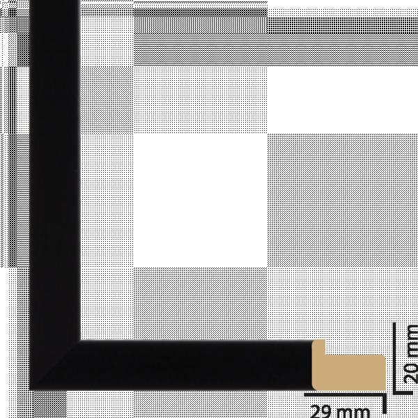 Рамка с паспарту ПВЦ 30х40 см черно