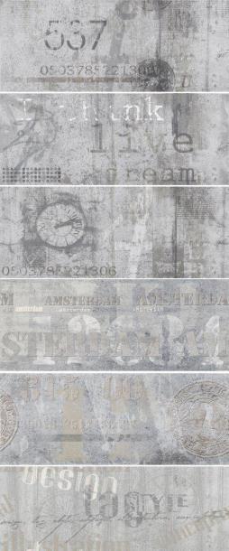 Декоративна фаянсова плочка Amsterdam Impression 60x100 см (6 елемента)